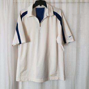 Nike Fit Dry Golf Shirt Front Zipper  Short Sleeve